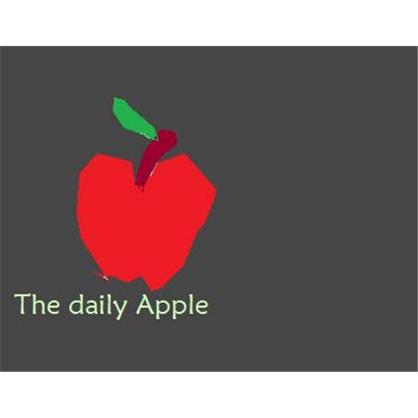 The daily apple-man