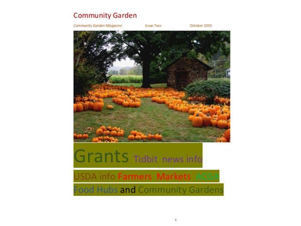 Community Garden February Issue Digital Magazine Grants and other
